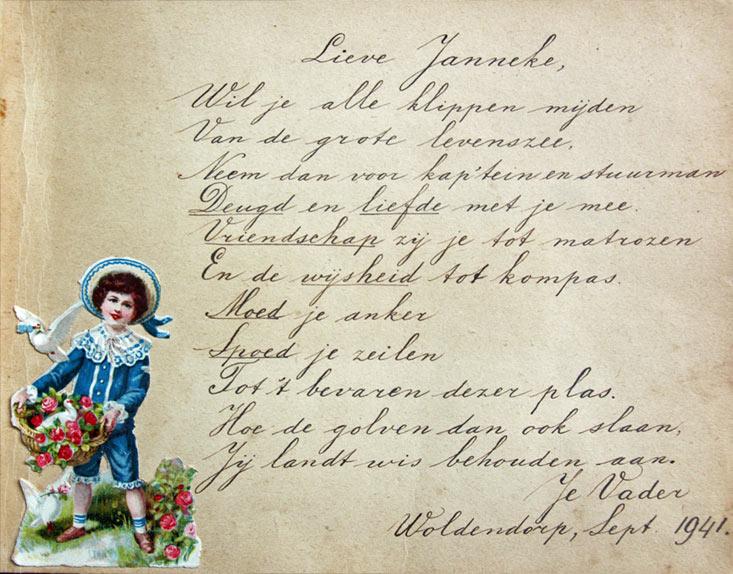 Poeziealbum Janneke Gorter